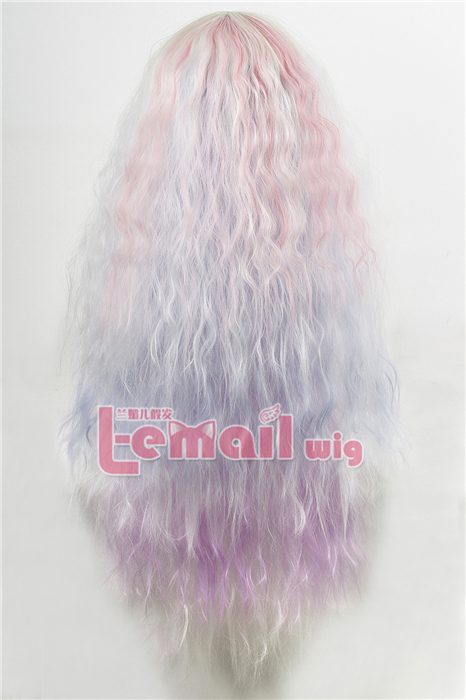 75cm Mixed Color Long Fashion Cosplay Curly Wig