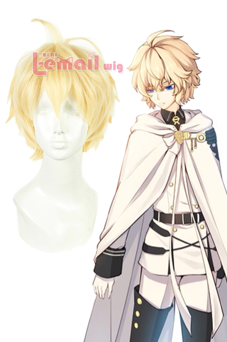 30cm Short Seraph of the End Mikaela Hyakuya Cosplay Wig