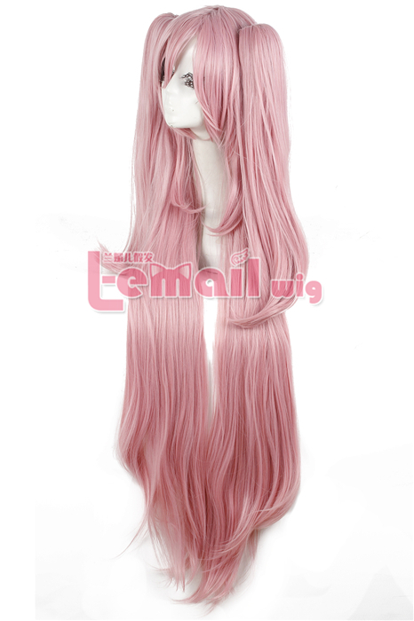 115cm Long Pink Seraph of the End Krul Tepes Cosplay Women Wig