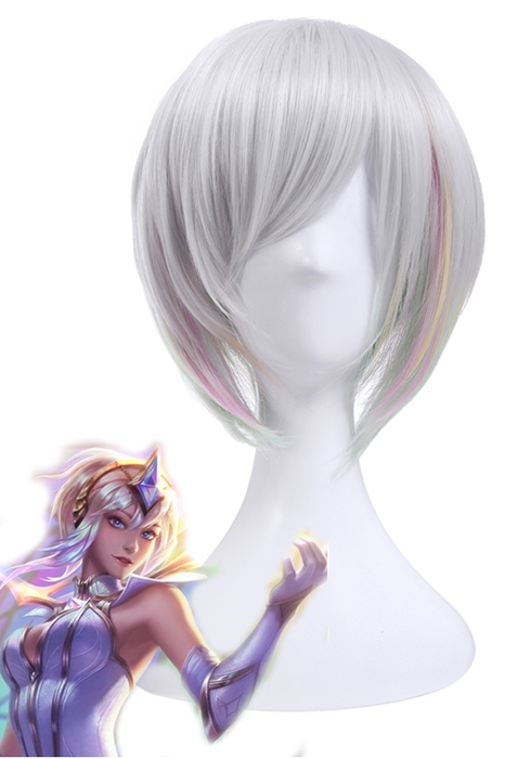 League of Legends Lux Elementalist Skin Light Short White Wigs zy231