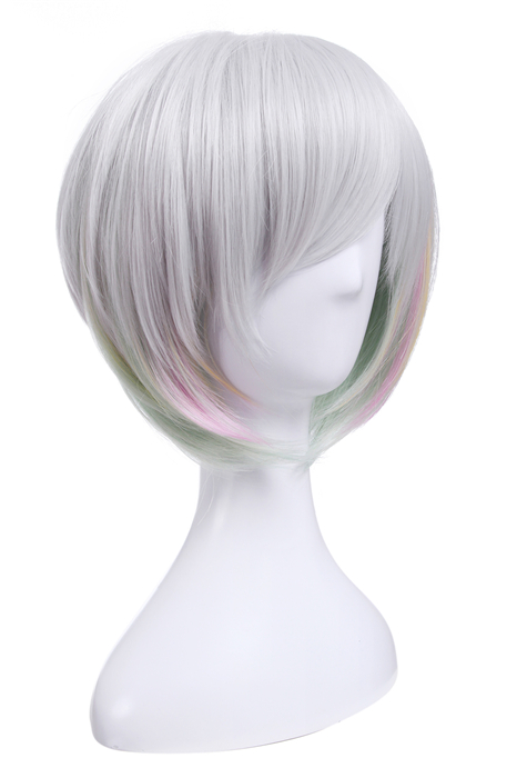 League of Legends Lux Elementalist Skin Light Short White Wigs