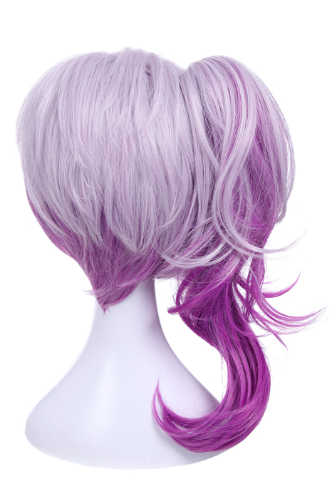 League of Legends Lux Elementalist Skin Dark Purple Cosplay Wigs