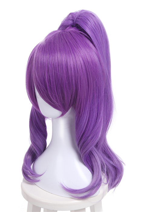 League of Legends Janna Magical Girl Purple Long Cosplay Wigs