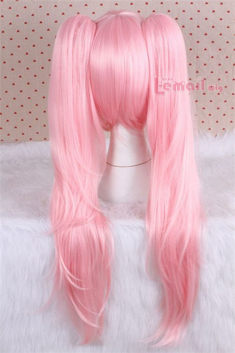 70cm long pink Dangan-Ronpa straight hair wig