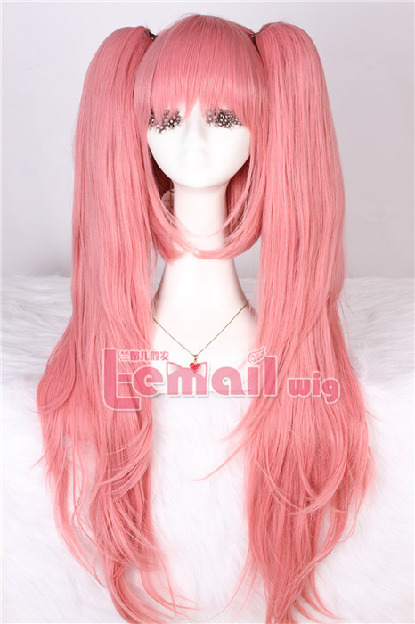70cm long warm pink Dangan-Ronpa straight hair wig