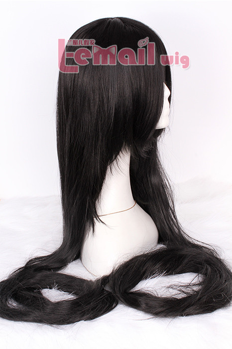 150cm Supper Long Straight Black cosplay party wig