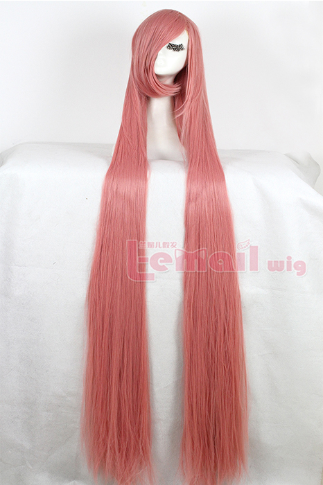 150cm Supper Long Straight Smoke Pink cosplay party wig ZY50F