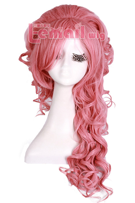 70CM LONG Magenta WAVE PRINCESS COSPLAY HAIR WIG ZY65E