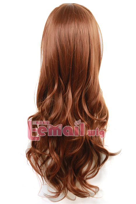 70cm Long Wave Mixed Color Little Mermaid Ariel Cosplay Hair Wig